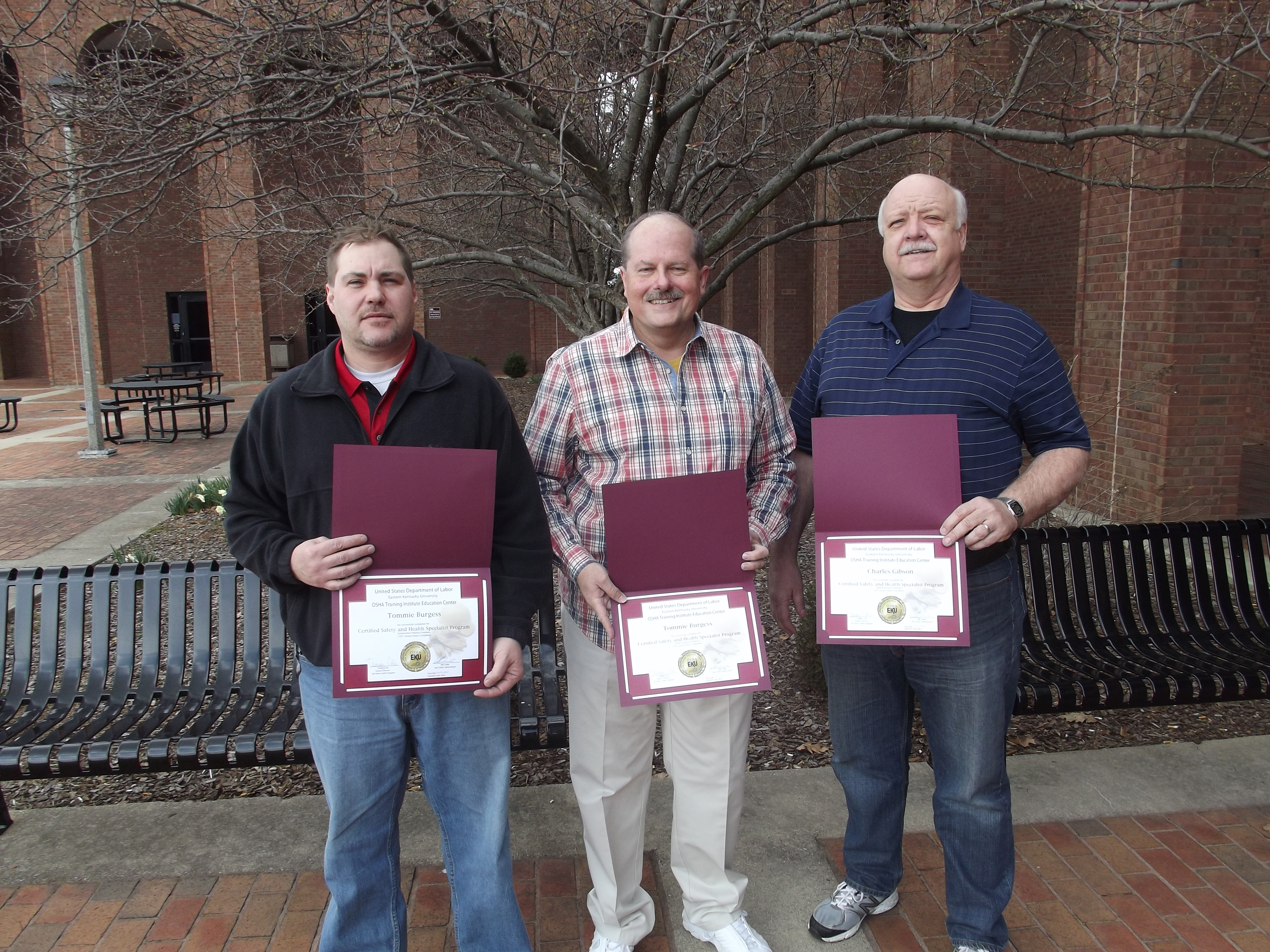 ... Recent CSHS Certificate Graduates | OSHA | Eastern Kentucky University